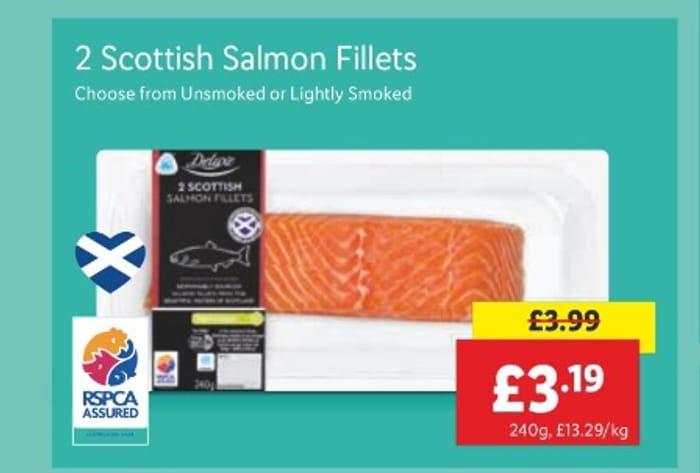 Deluxe 2 Scottish Salmon Fillets 240g