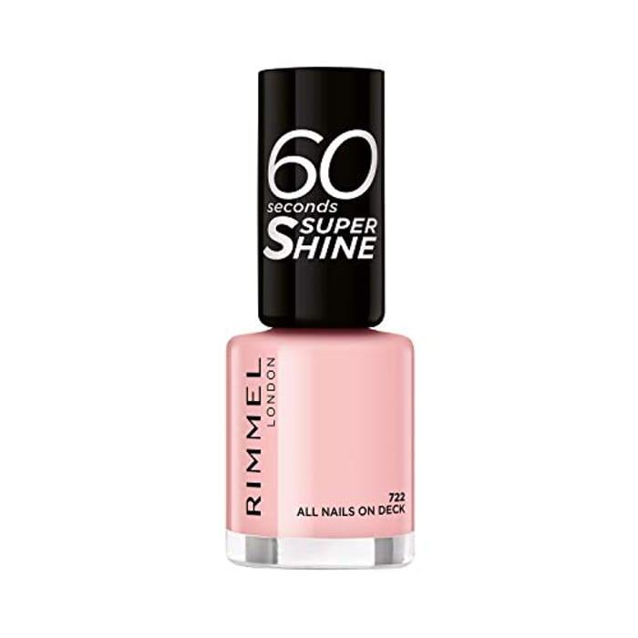 Rimmel 60 Seconds Super-Shine Nail Polish, All Nails on Deck, 8 Ml