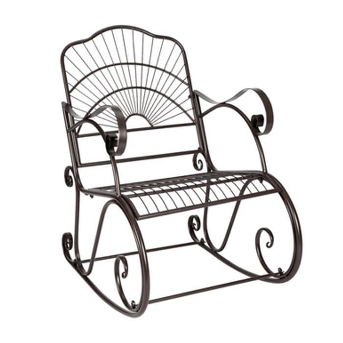 Garden Iron Rocking Chair