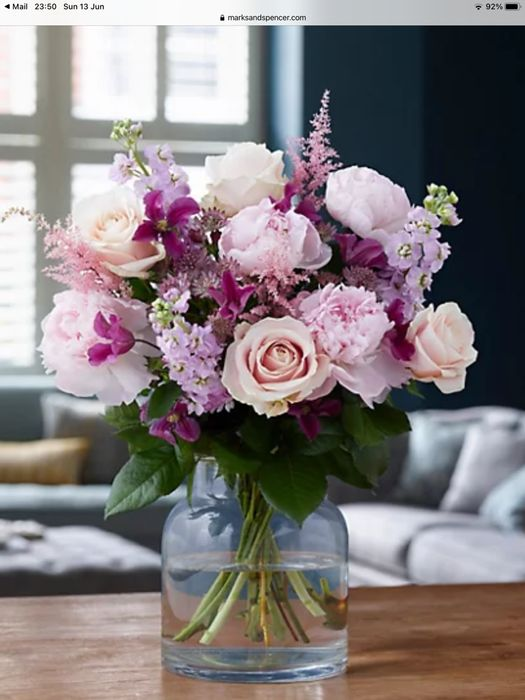 M&S COLLECTION Pink Rose & Peony Bouquet