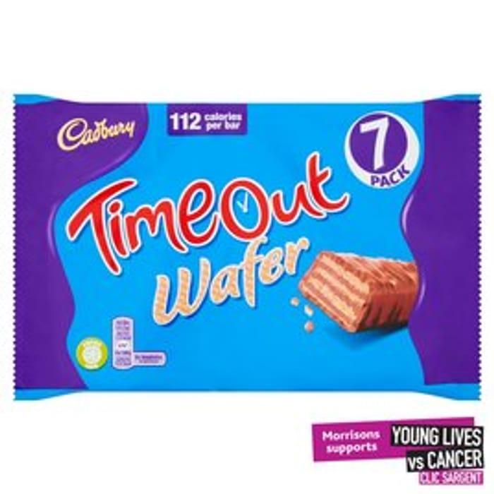 Cadbury Timeout Wafer Bars 7 X 21.2g