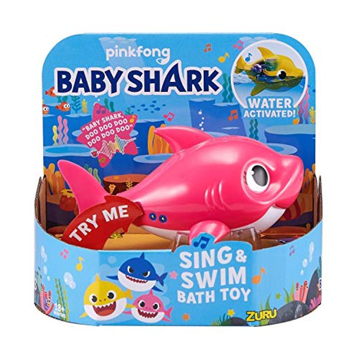 Robo Alive Junior Mommy Shark Battery-Powered Sing and Swim Bath Toy