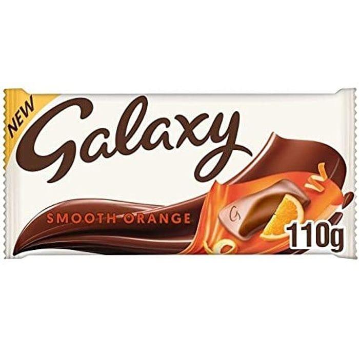 Galaxy Smooth Orange Chocolate Bar, 110g