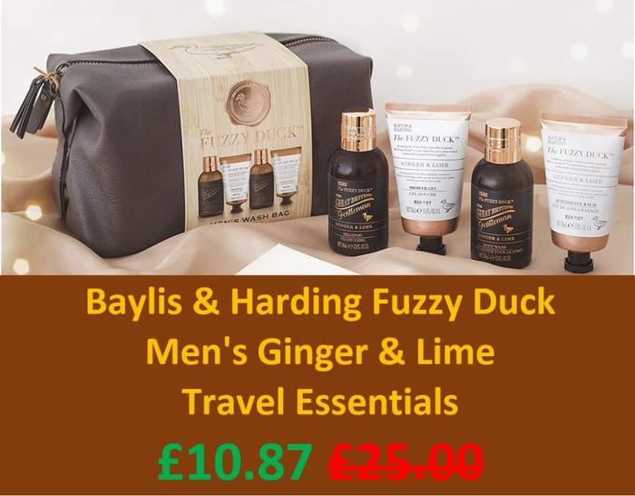 Baylis & Harding Fuzzy Duck Men's Ginger & Lime Travel Bag GIFT SET