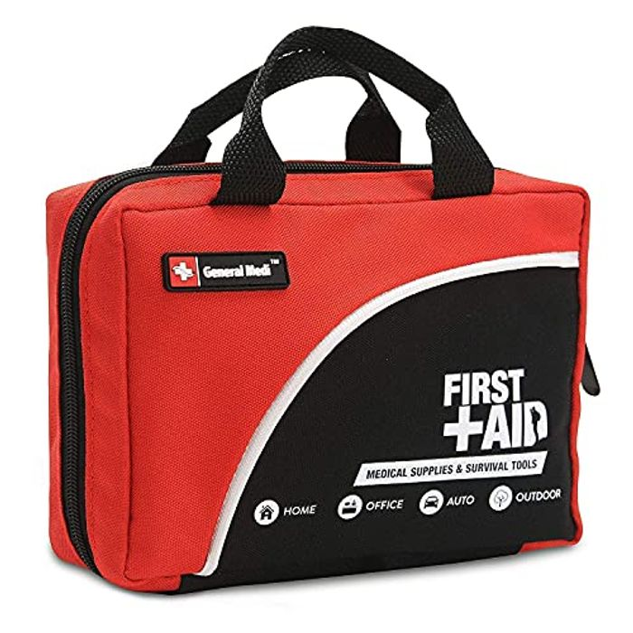 General Medi 160 Piece First Aid Kit Bag - with Cold Pack & Emergency Blanket