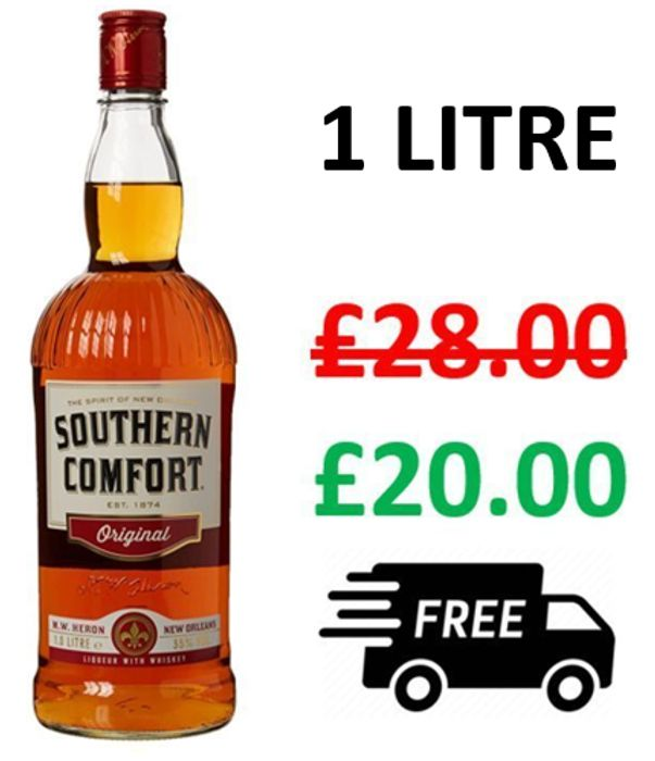 SAVE £8 + FREE DELIVERY - Southern Comfort 1 Litre