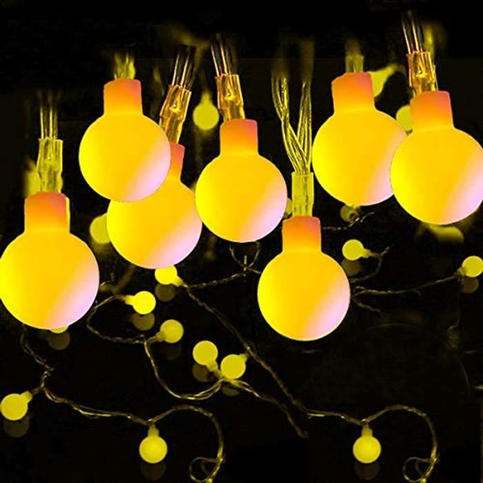39ft 100 LED Outdoor Festoon Lights Globe String Lights