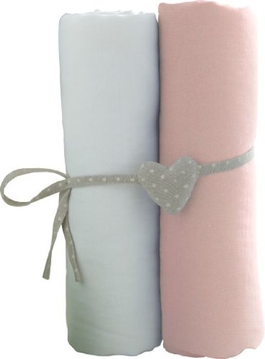 2 Pack Babycalin Cot Size Fitted Sheets - 60 x 120cm
