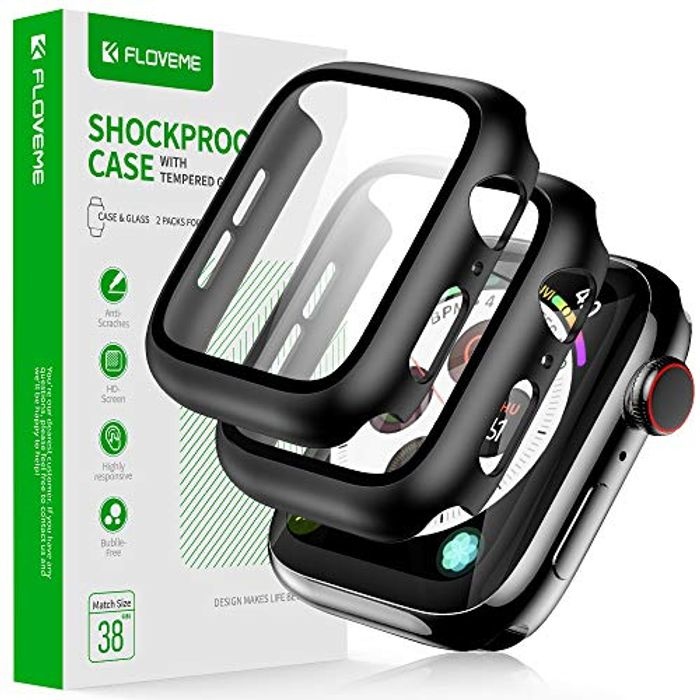FLOVEME Case Compatible with Apple Watch, 2 Pack - Only £2.38!