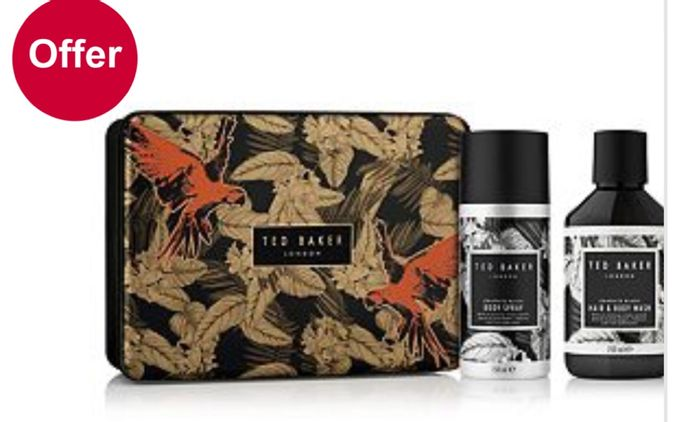 1/2 Price on Selected Ted Baker Mens products,Ted Baker Duo and Manicure Gift £9