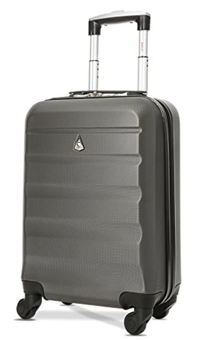 CHEAP! Aerolite Lightweight 55cm Hard Shell Cabin Luggage 4 Wheels Suitcase