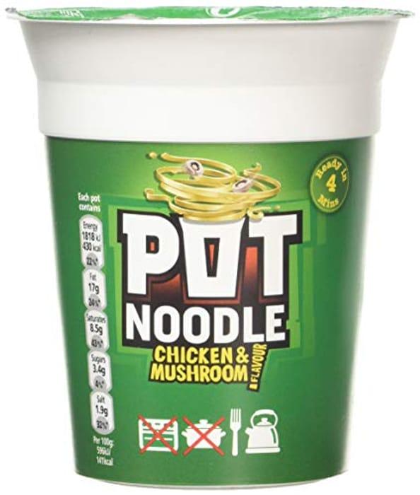 Pot Noodle Chicken & Mushroom, 90g