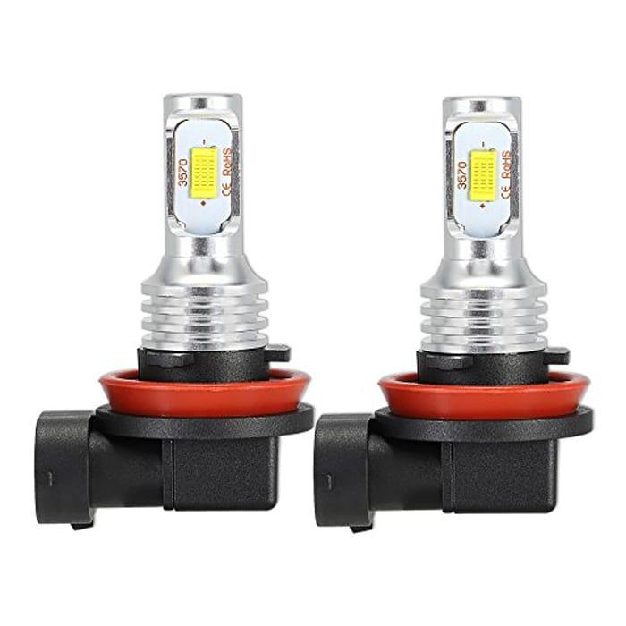 NOVSIGHT H11 H8 H9 LED Fog Light Bulb Auto - Only £8.99!
