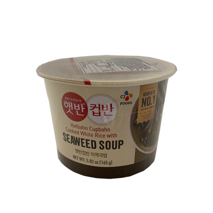 Hetbahn Cupbahn White Rice with Seaweed Soup