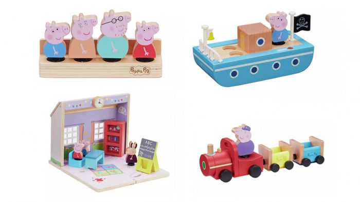 FREE Peppa Pig Figure Set worth £10 When You Buy a Peppa Pig Wooden Playset