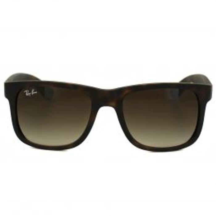 Ray-Ban Sunglasses Justin 4165 Rubber Light Havana Brown Gradient