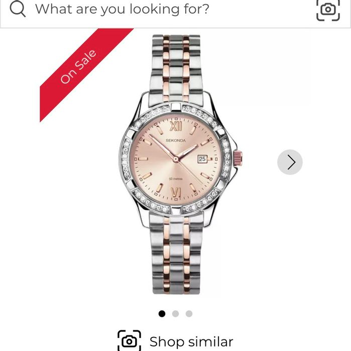 Sekonda Sekonda Ladies' Two-Tone Crystal Rose Bracelet Watch