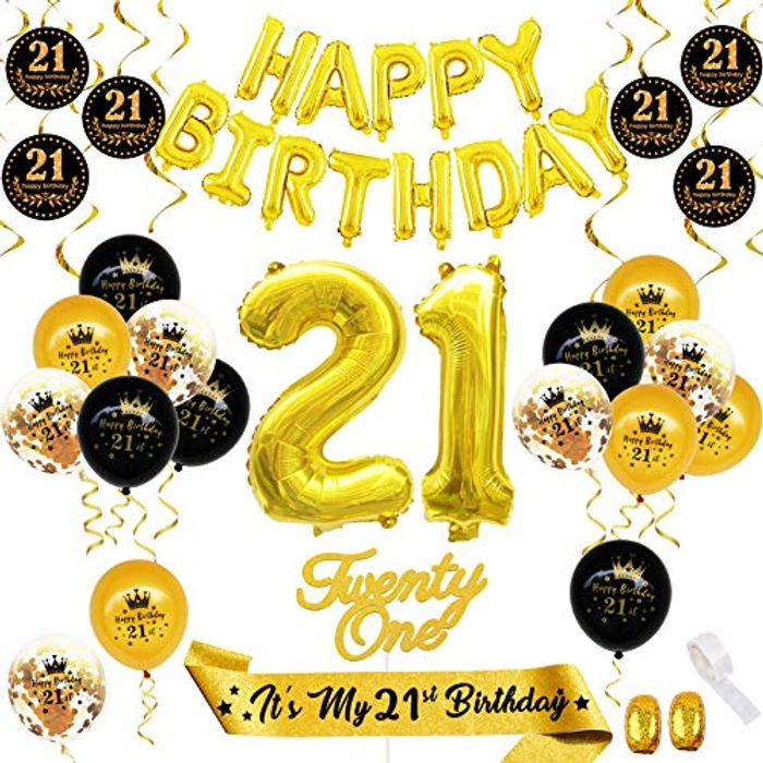 Birthday Decoration Pack with 3 Options: 16th, 18th and 21st!