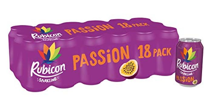 Passion Fruit Rubicon sparkling drinks x 18 cans