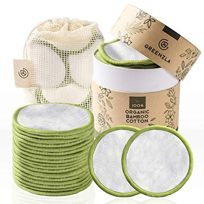 Reusable Makeup Remover Pads (20 Pack) with Washable Laundry Bag
