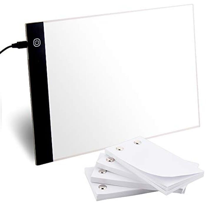 A4 LED Light Box + 240 Sheets Blank Flip Book Kit