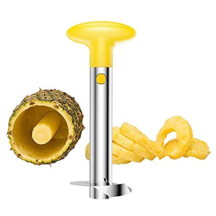 DEAL STACK - SameTech Stainless Steel Pineapple Peeler Slicer Tool + 30% Coupon