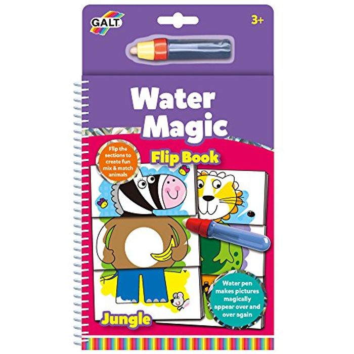 Galt Toys Water Magic Flip Book Jungle, Colouring Book for Children