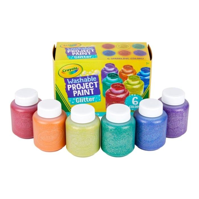 Crayola 6 Washable Glitter Paints