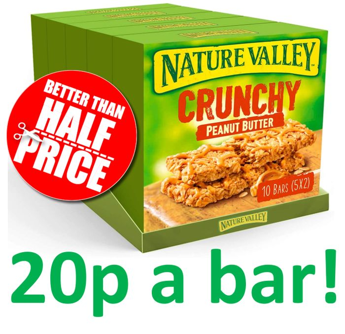 25 x Nature Valley Crunchy Peanut Butter Cereal Bars + FREE PRIME DELIVERY