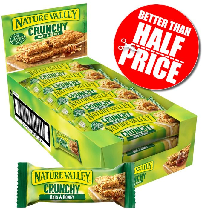 Nature Valley Crunchy Oats and Honey Cereal Bars 18 X 42g