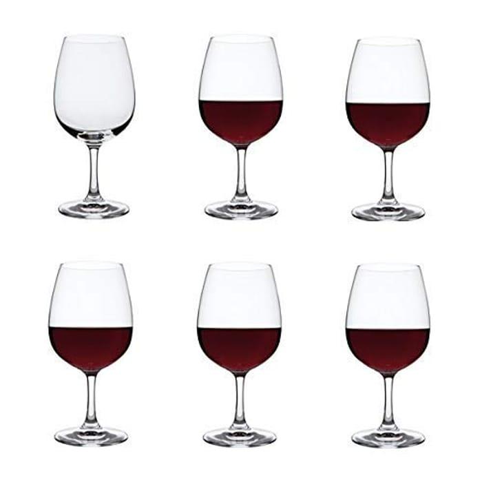 Dartington Crystal ST2670/4/6PK - Crystal Red Wine Glasses, Set of 6 X 450ml