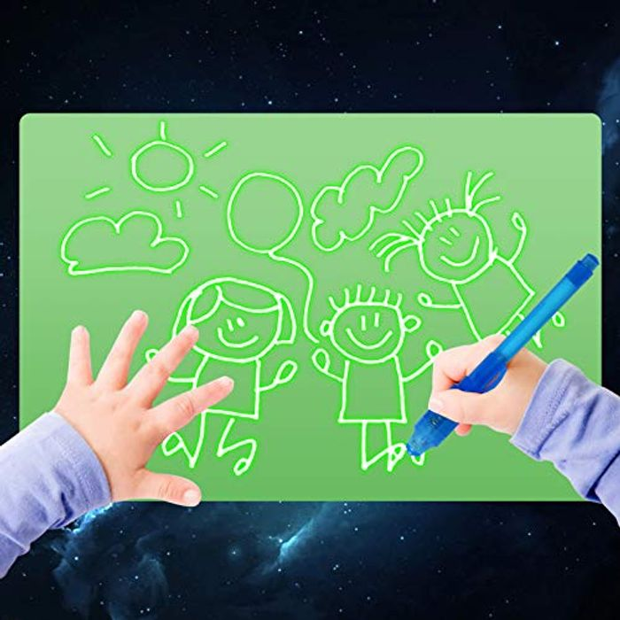 No Mess Colouring Writing Tablet Light Drawing Board with 2 Magic Pens