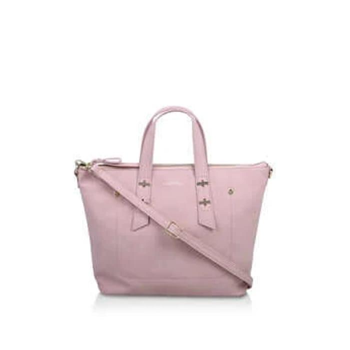 Carvela Lauren Soft Tote - Pink Suedette Tote Bag