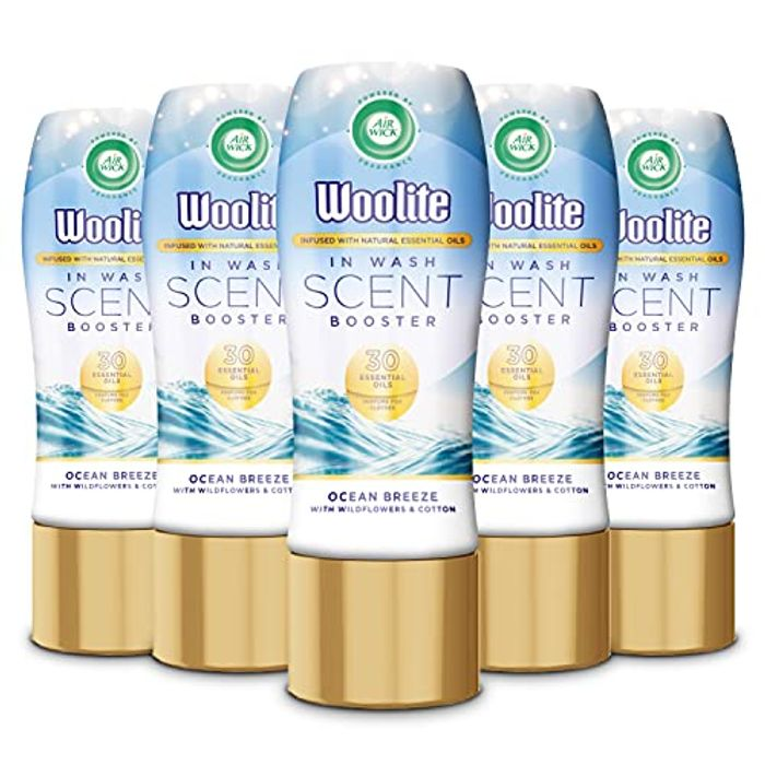 DEAL STACK - Airwick in Wash Scent Booster 300ml, Multipack of 5 + 30% Coupon