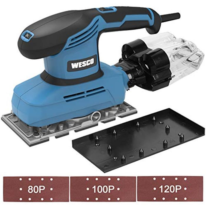 DEAL STACK - WESCO 240W 1/3 Sheet Sander with Aluminum Base + 30% Coupon