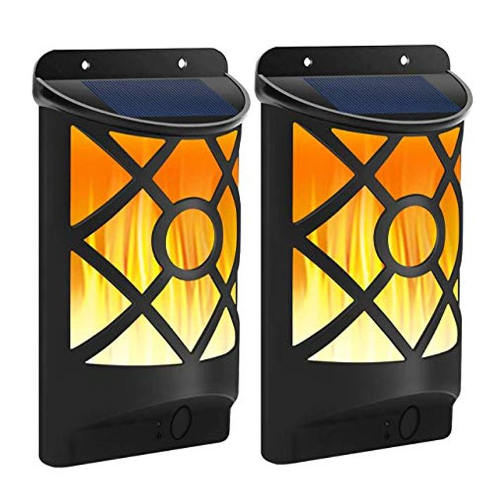 DEAL STACK - Waterproof Outdoor Solar Wall LED Street Lights, 2 Pack + £3 Coupon