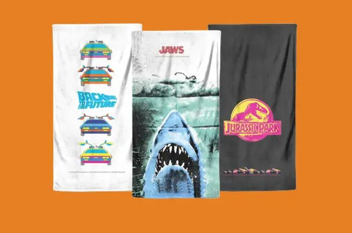 2 for 1! Movie & Tv Themed Towels