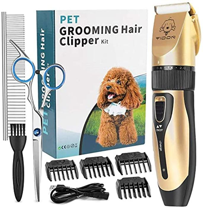 YIDON Rechargeable Professional Dog Grooming Clippers Kit - Only £3.2!