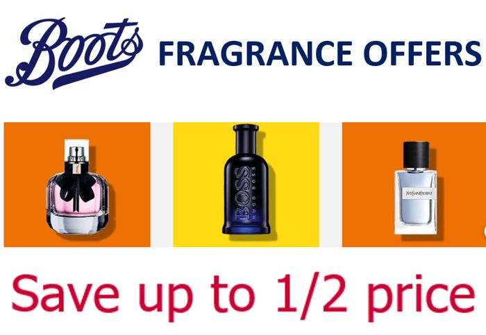 Boots FRAGRANCE OFFERS - save up to HALF PRICE