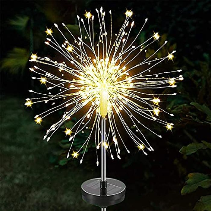 Solar Powered Dimmable Starburst Light with 8 Modes + Remote