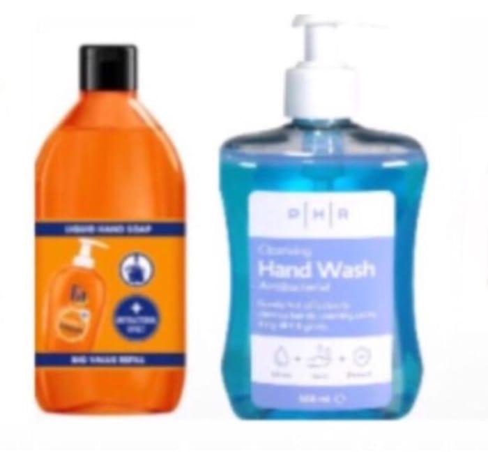 Fa Liquid Hand Soap Hygiene &Fresh Orange 385ml & PHR Hand Wash 500ml Each 50p