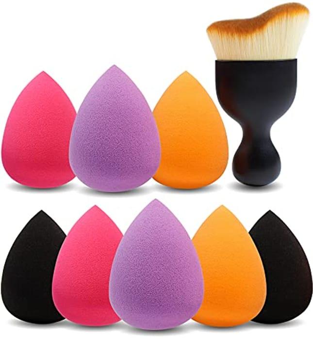 Eono 8pcs Makeup Sponges + Contour Brush