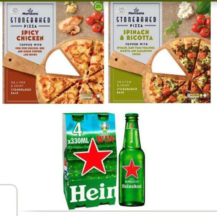 Get 2 Pizzas and 4 Drinks for £5