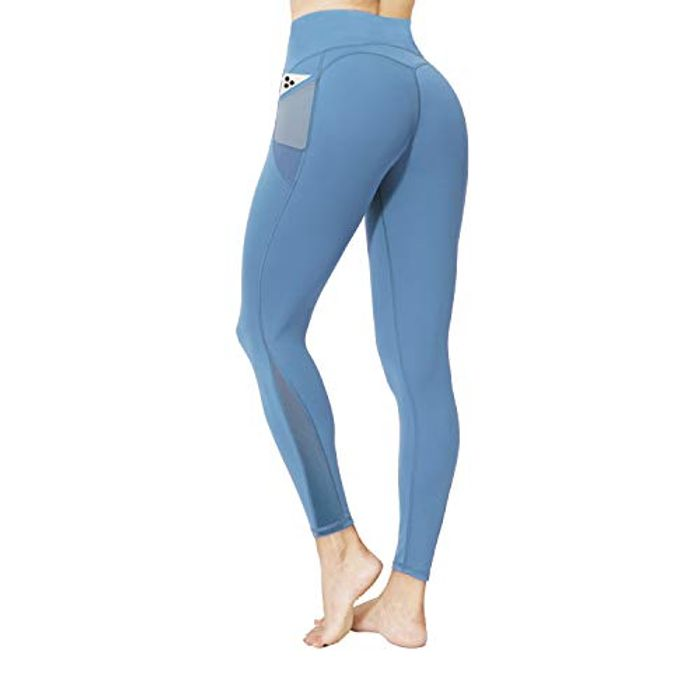 Neppein Womens Yoga Leggings with Pockets - Only £7.2!