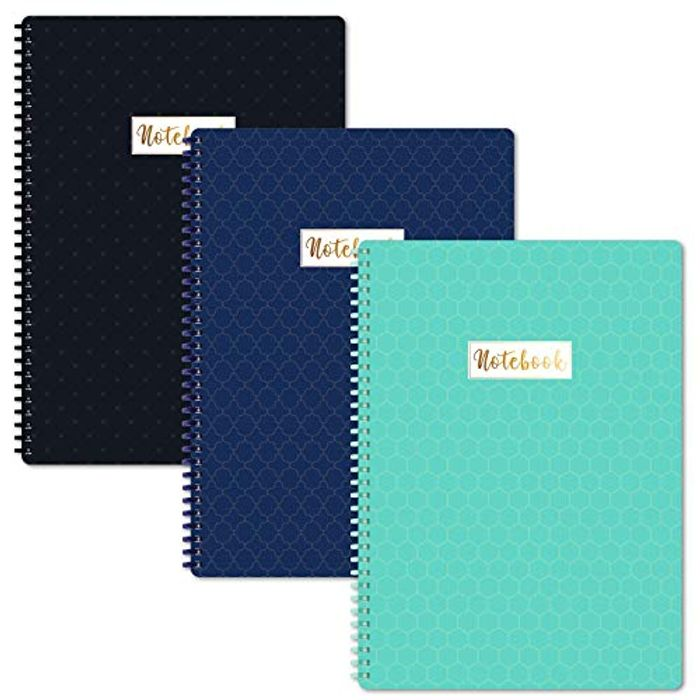 A4 Notebooks/Notepads - 3 Pack Lined A4 Notebook Journal with Margin,