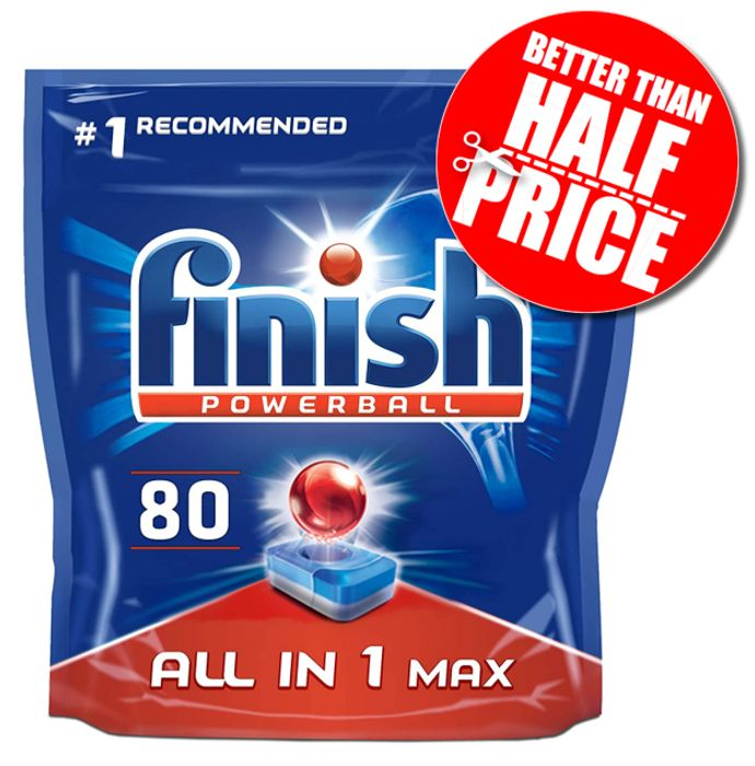 80 Finish All-in-One Max Dishwasher Tablets - AMAZON #1 BESTSELLER
