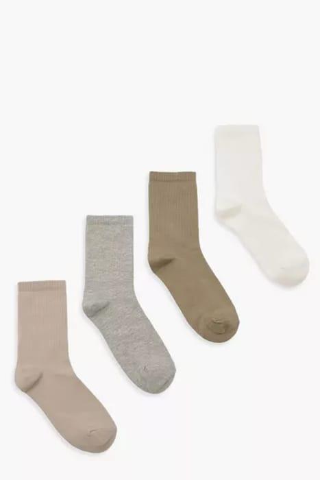 Khaki Tonal 4 Pack Tennis Sports Socks