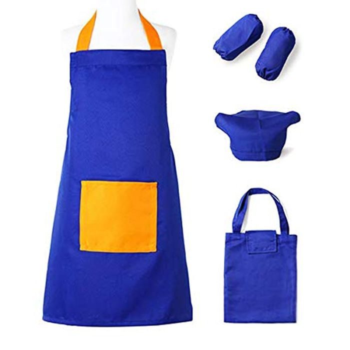 ARRIS Kids Apron Set with Chef Hat for Boys Girls - Only £5.49!