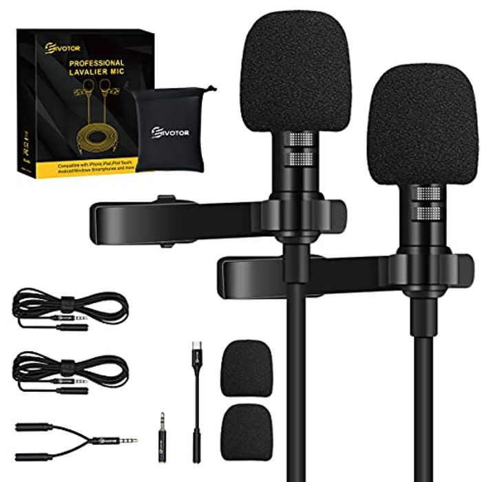 DEAL STACK - 35% off Clip-on 3.5mm Lavalier Microphone
