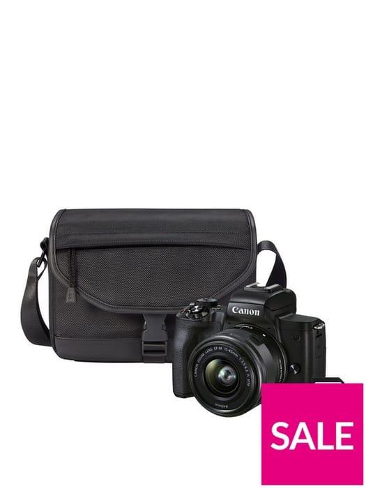 Canon EOS M50 Mark II CSC Camera + EF-M15-45mm Lens + SB130 + 16GB Kit